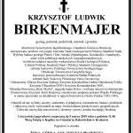 nekrolog - Krzysztof Birkenmajer